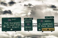 Road Sign in Miami-Dade County - stock photo