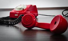 Important red phone Stock Photos