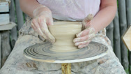 Stock Video Footage of potter clay in woman hands, handmade technology
