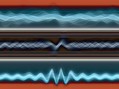 Abstract Sound Analyzer Stock Illustration