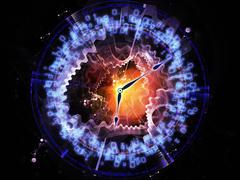 Time abstraction Stock Illustration