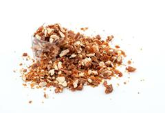 Caramelized crumbled Almonds - stock photo