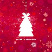 Stock Illustration of Decorated blue Christmas tree. EPS 8