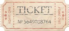 Ticket admit one vintage one. EPS 8 - stock illustration