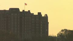 Distant Flag over DC Stock Footage
