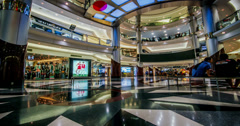 The customers have rest in the modern shopping mall,Bangkok, Thailand Stock Footage