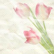 Vintage paper flowers template. EPS 10 Stock Illustration
