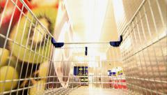 Shopping Cart Trolley Supermarket Stock Footage