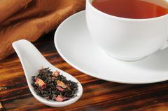 Rose infused black tea Stock Photos