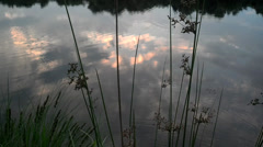 at a remote lake before sunset - stock footage