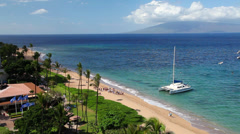 Catamaran on Kaanapali Beach 1 Stock Footage