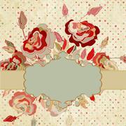 Red vintage label. EPS 8 Stock Illustration