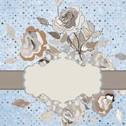 Vector floral border. And also includes EPS 8 Stock Illustration