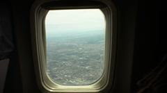 aerial air plane window over phoenix, az - stock footage
