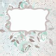 Bloom flowers and polka dot. EPS 8 - stock illustration