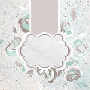 Elegance vintage pattern with flower. EPS 8 Stock Illustration