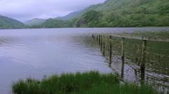 LakeUnderneathaMountain-NantGwynant Stock Footage