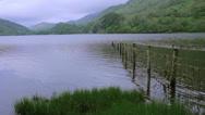 Stock Video Footage of LakeUnderneathaMountain-NantGwynant