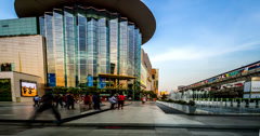 4k, Lots of custmers wander the shopping mall in bangkok downtown, Thailand Stock Footage
