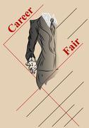 career fair - stock illustration