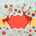 Stock Illustration of Snowy retro christmas/winter background. EPS 8