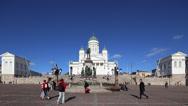 Stock Video Footage of Senate Square, Helsinki, Finland