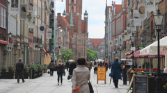 Gdansk, Poland. The old town Stock Footage