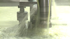 Industrial Lathe - CNC Control Stock Footage