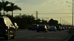 Traffic jam on the rush calle 8 miami 02 Stock Footage