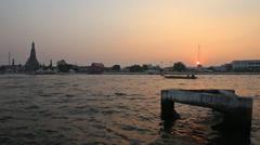Sunset in Bangkok, Thailand Stock Footage