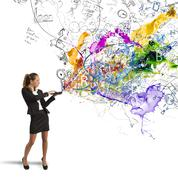 creative business idea - stock illustration