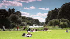 London, UK - St James's Park Lake/Fountain Stock Footage
