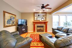 house interior. living room - stock photo