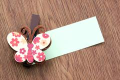 Hairpins pattern of brown butterfly. Stock Photos
