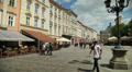 People walk in the city center, Ukraine, Lviv 7 Footage