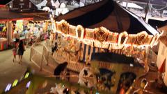 Carnival at Night Merry-Go-Round - stock footage