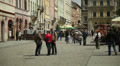 People walk in the city center, Ukraine, Lviv 6 Footage