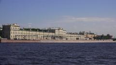 Military medical Academy on Pirogovskaya embankment in St. Petersburg. 4K. - stock footage