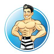 Muscle man Stock Illustration