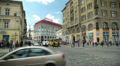 People crossing the road at a pedestrian crossing, Ukraine, Lviv  3 HD Footage