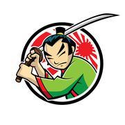 samurai - stock illustration