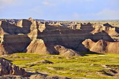 badlands national park, south dakota usa. badlands scenery. south dakota phot - stock photo