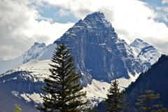 glacier peak - glacier national park one of the snowy peaks. montana scenery - stock photo
