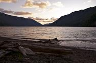 Stock Photo of lake crescent sunset - olympic peninsula, washington, u.s.a. washington state