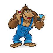 gorilla gadget - stock illustration