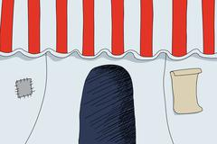 Circus entrance Stock Illustration