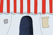 Circus entrance Stock Illustration