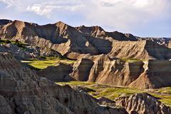 Badlands landscape photography. badlands national park, south dakota, usa. Stock Photos