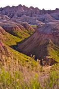 Rugged beauty of the badlands, badlands national park, south dakota, u.s.a. v Stock Photos