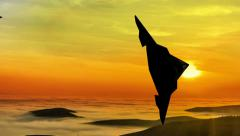 Stealth f-117 nighthawk air attack Stock Footage